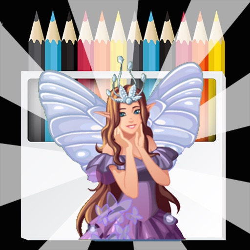 Princess Fairy Tale COLORING:Angel Activity Book