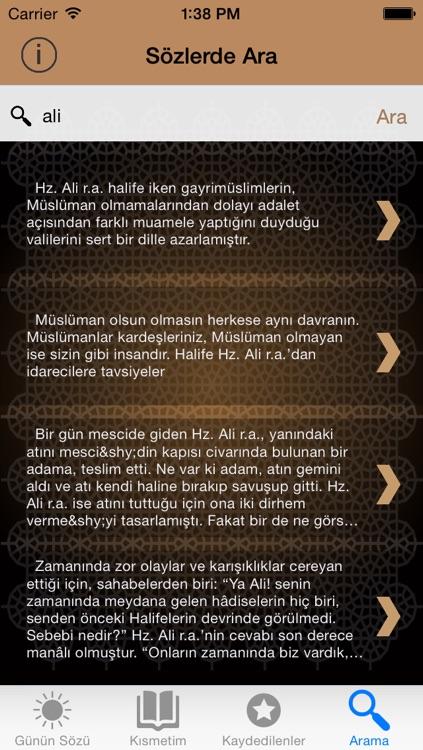 Allahın Aslanı - Hazreti Ali Sözleri screenshot-3