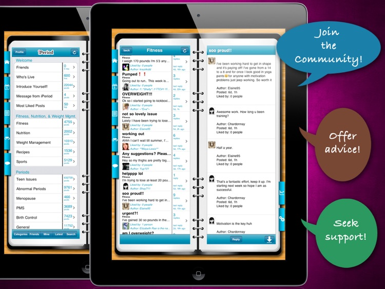 iPeriod Period Tracker Free for iPad (Period Calendar) screenshot-3