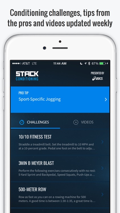 STACK Conditioning Presented by ASICS - Free Interval Timer and Fitness Challenges