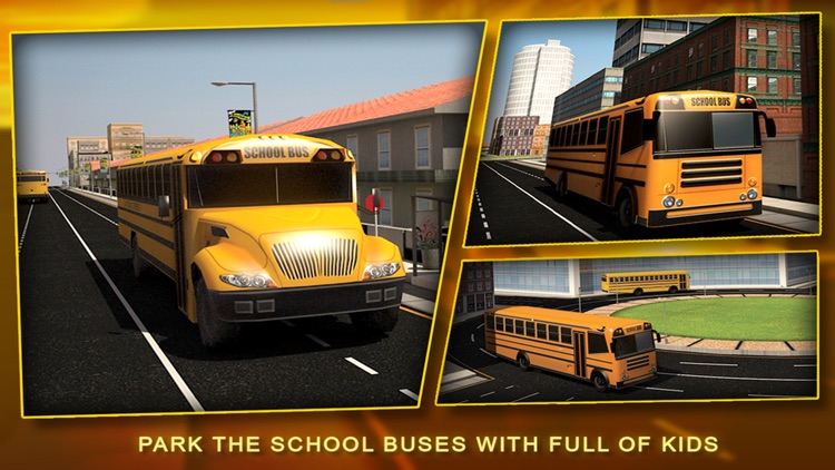 School Bus Simulator 3D – Drive crazy in city & Take Parking duty challenges for kids fun screenshot-3