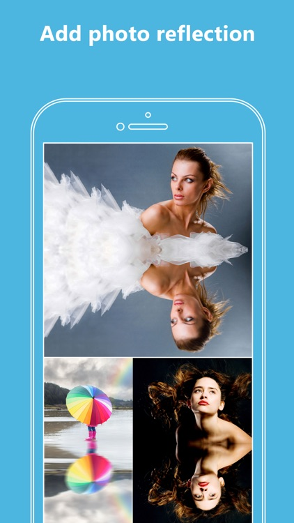 Mirror Reflection Photography Effects In Selfie Pics For Instagram Photo