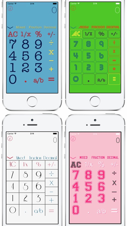 jCalc - Multi Calculator Free — with a history of your calculations plus a fraction calculator for iPhone, iPad and iPod touch screenshot-3