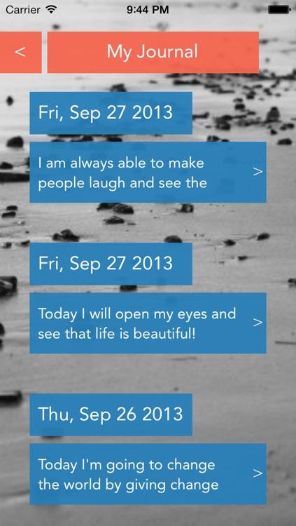 Affirmations Journal screenshot-3