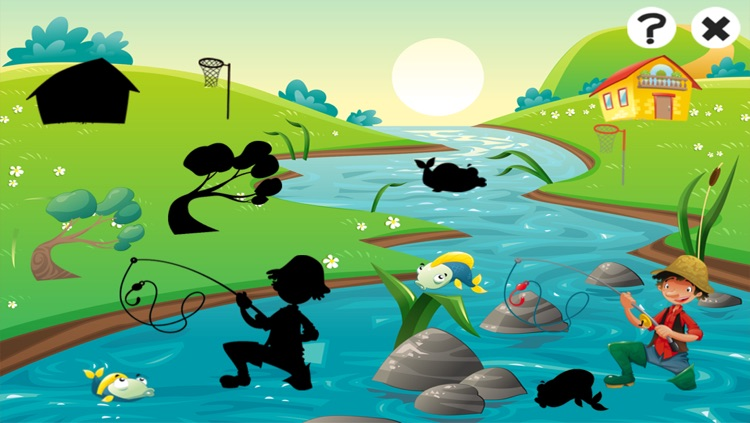 Fishing game for children age 2-5: Fish puzzles, games and riddles for kindergarten and pre-school screenshot-3