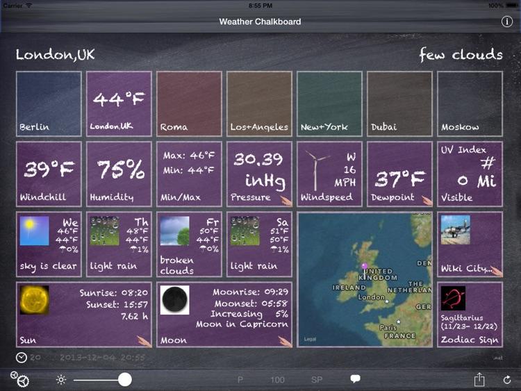 Weather Chalkboard Lite