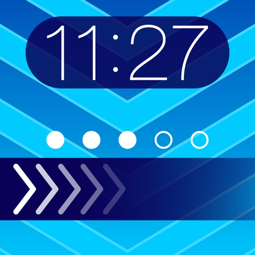 Theme Foundry – EZ Lock Screen, Slide to Unlock, Color Dock, Dots & Status Bar Background Wallpaper Themes to use your own Photos!
