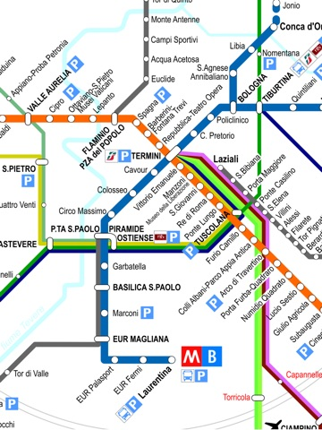 Rome travel guide and offline map metro Rome subway traffic maps