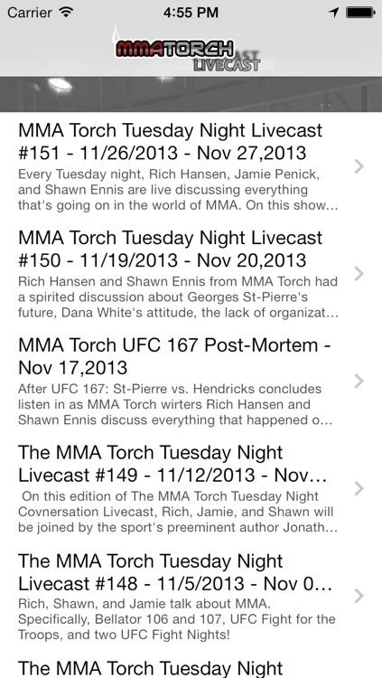 MMA Torch Livecast