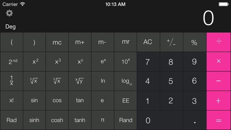 Calculator Free - for iPad screenshot-3