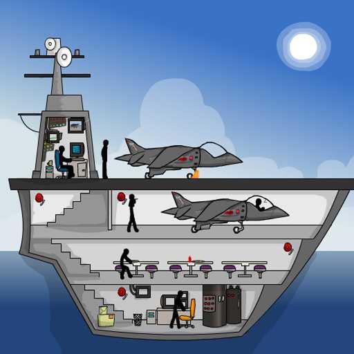 Click Death - Stick Aircraft Carrier