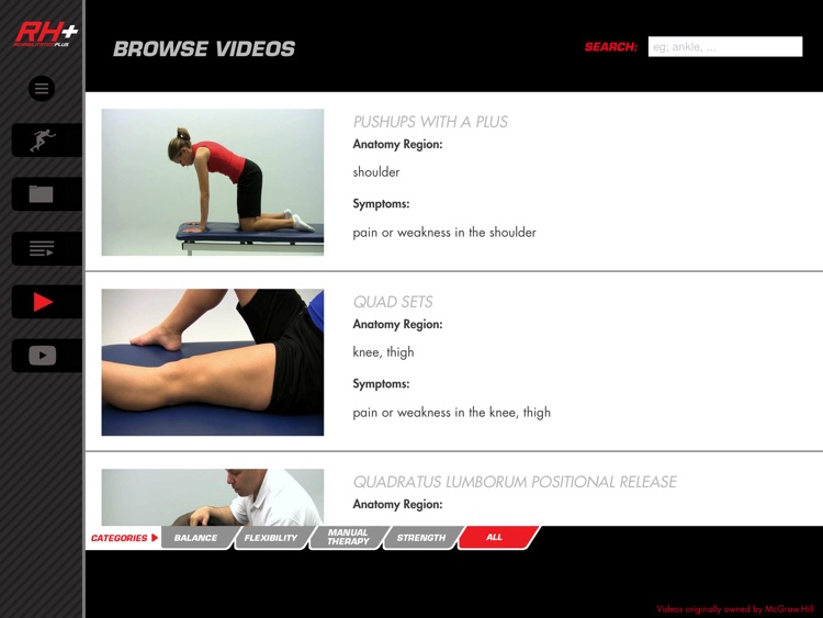 Rehabilitation Plus: Video-Led Exercises for Sports Injury Rehab screenshot-4