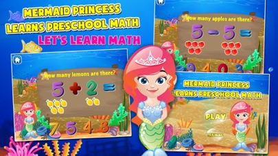 Mermaid Princess Preschool Adventure: Basic Addition,