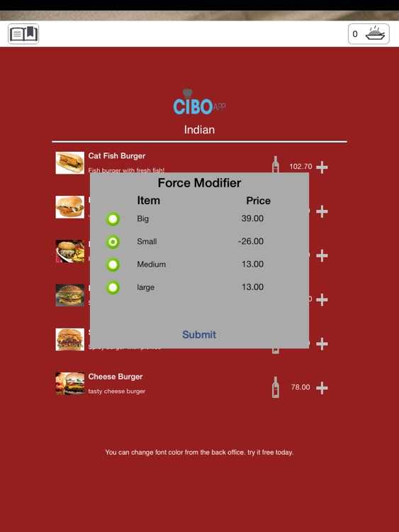 Cibo Digital Menu screenshot-3