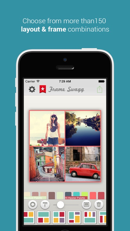 Frame Swagg - Photo collage maker to stitch pic for Instagram FREE