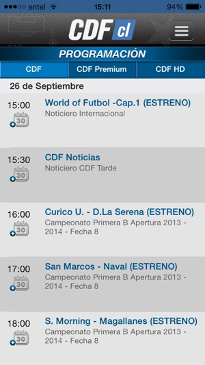 CDF Chile Screenshot