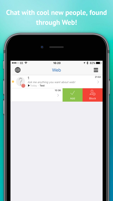 Web - Connect & chat with interesting new people screenshot one