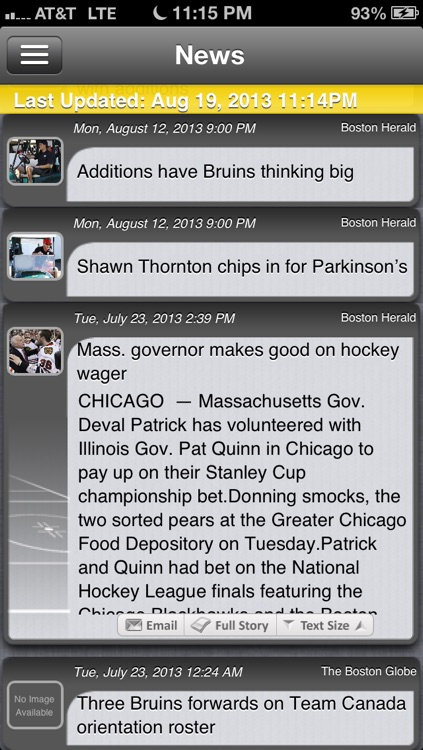 Boston Hockey Live screenshot-3