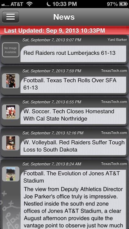 Texas Tech Football Live