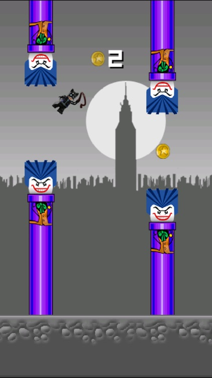 Flappy League of Heroes - Bat Justice Begins in the metropolis of Gotham, NY!