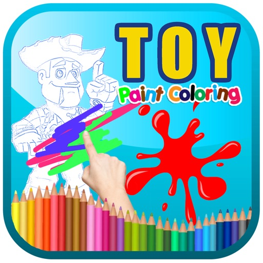Toy Paint Coloring Kids Story iOS App