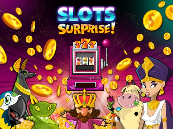 Screenshot #1 for Slots Surprise - 5 reel, FREE casino fun, big lottery bonus game with daily wheel spins