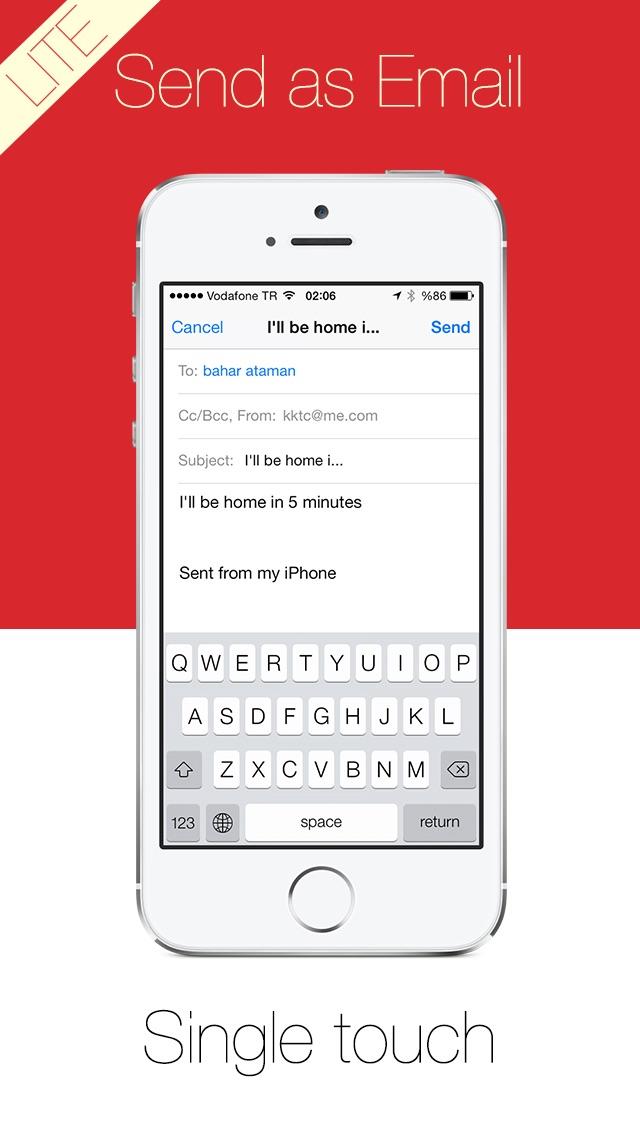 Write Lite -  一鍵式語音到文本聽寫,語音識別,直接短信和電子郵件提醒。屏幕截圖3