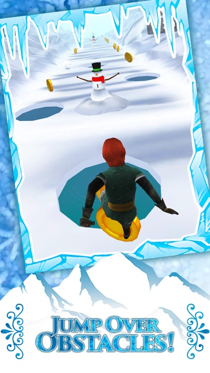 Frozen Princess Run 3D Infinite Runner Game For Girly Girls With New Fun Games PRO screenshot-3