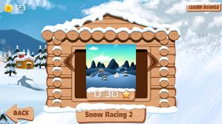 Carreras de nieve 2 : snowboarder superiores gratis los mejores juegos de arcada jinete con un fresco divertido multijugador saltos de esquí - la mejor diversión snowboard correr deporte dibujos animados App para NiñosCaptura de pantalla de4