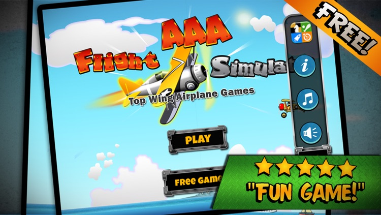 Flight Simulator Top Wing Airplane Games - by the AAA Team