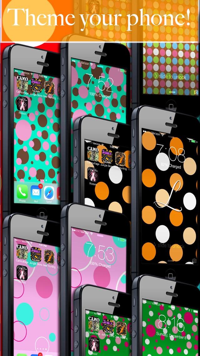 Polka Dot my Phone! - FREE Wallpaper & Backgrounds Screenshot
