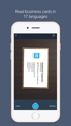 Camcard for salesforce scan bizcard to salesforce on the app store iphone screenshots reheart Images