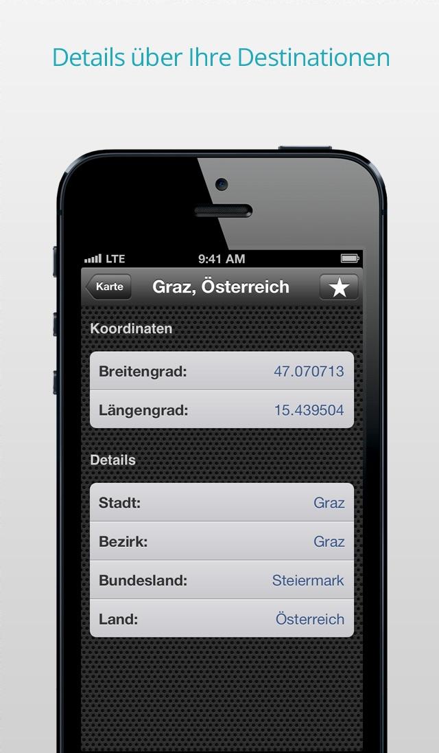AtoB Distance Calculator Free  - gratis Distanzrechner zur Messung von Luftlinie oder Auto-Route von A nach B für Reise und mehr Screenshot