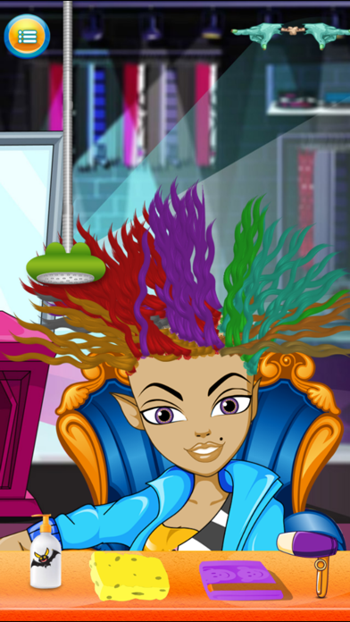 Kids New Halloween Hair Salon game for hair style makeover screenshot three