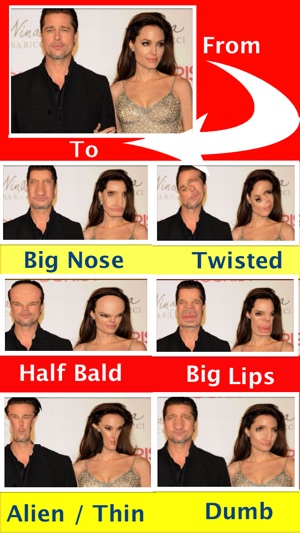 funny face filters free make alien big nose squit eye faces on the