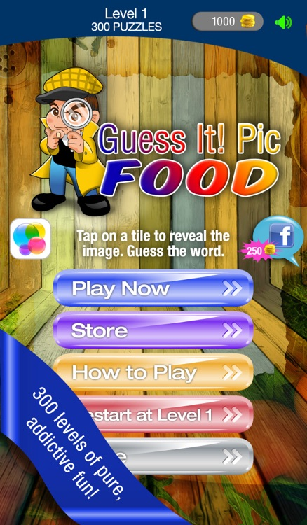 Guess It! Pic Food – Free Trivia Word Scramble Quiz Game. Have fun guessing what's the food photo but don't give up, solve words with family and friends help!