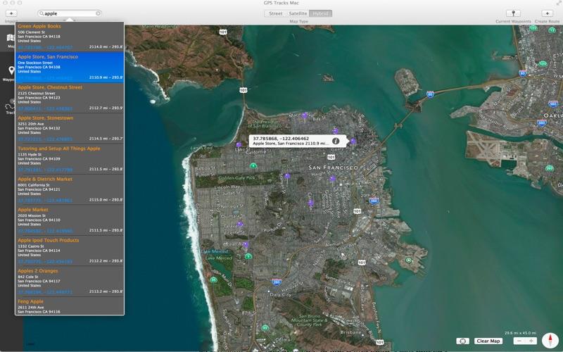 GPS Tracks Screenshot