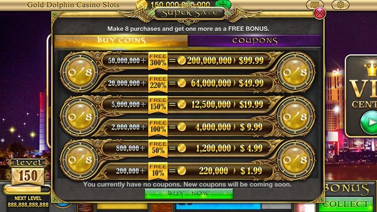 Gold Dolphin Casino Slots - Real Rewards screenshot-3