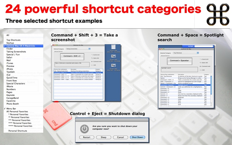 Shortcuts for Mac Screenshot