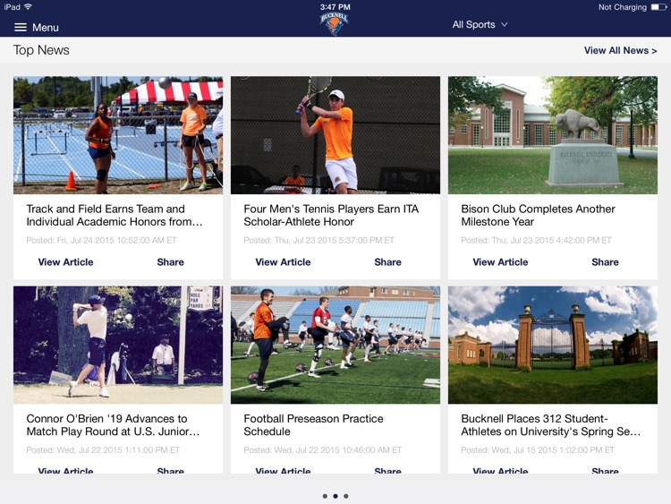 Bucknell Bison for iPad 2015 screenshot-0