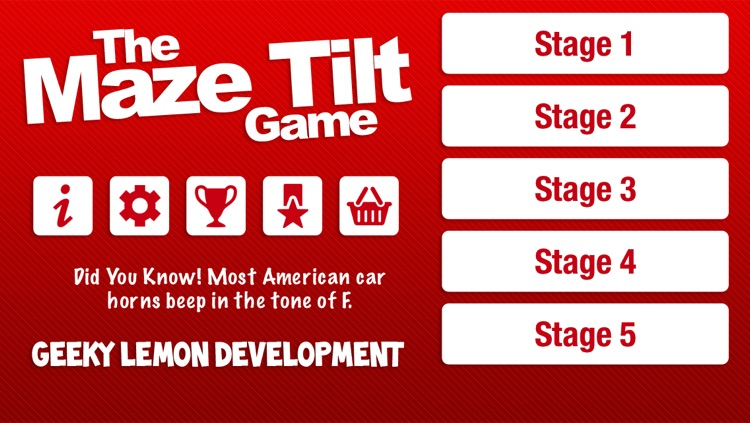 The Maze Tilt Game