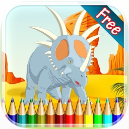 Dinosaur Coloring Book 2 - Drawing and Painting Colorful for kids games free
