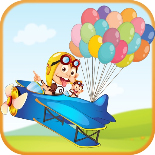 Monkey Balloon Games - Video of the Monkey Drop from an airplane icon