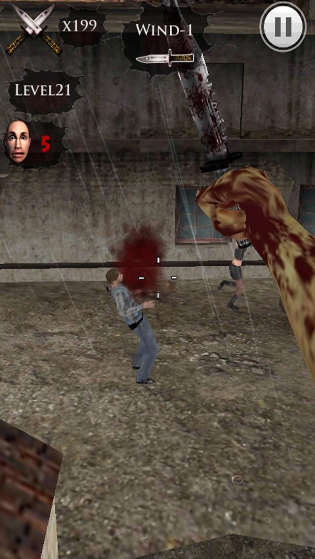 ナイフ投げ-私はゾンビだ 3Dのスクリーンショット3