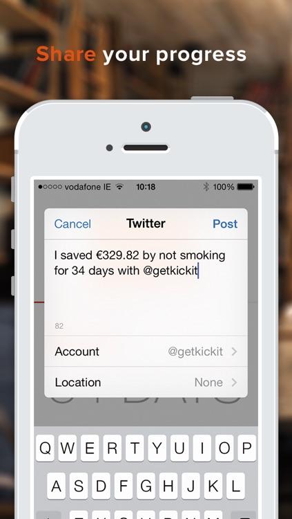 kickit 2 - Quit Smoking, Incentivized