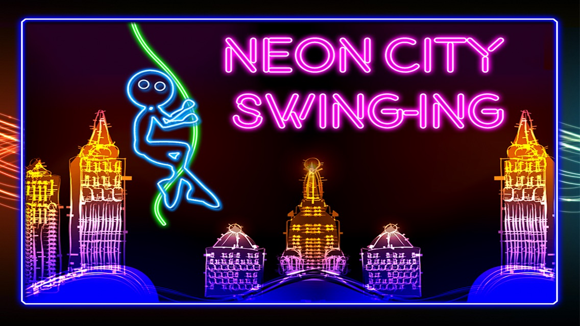 Neon City Swing-ing: Super-fly Glow-ing Rag-Doll with a Rope Screenshot
