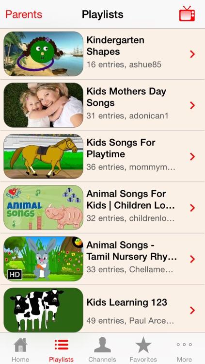 Kindergarten - Kids Learning Video Library screenshot-3