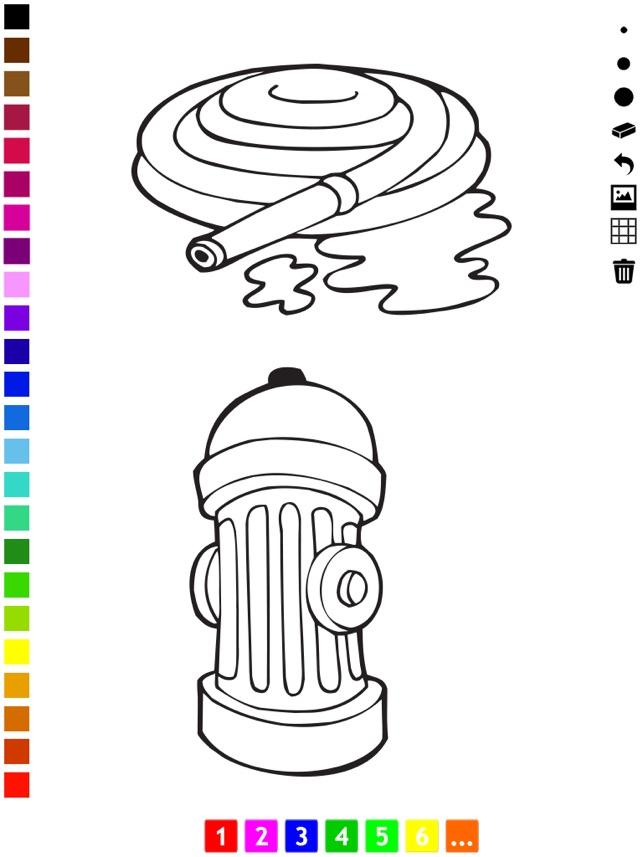 Libro Para Colorear de Los Bomberos Para Los Niños: Con Muchas Fotos ...
