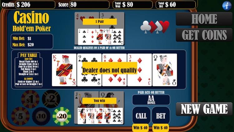 Texas Holdem Poker vs Croupier