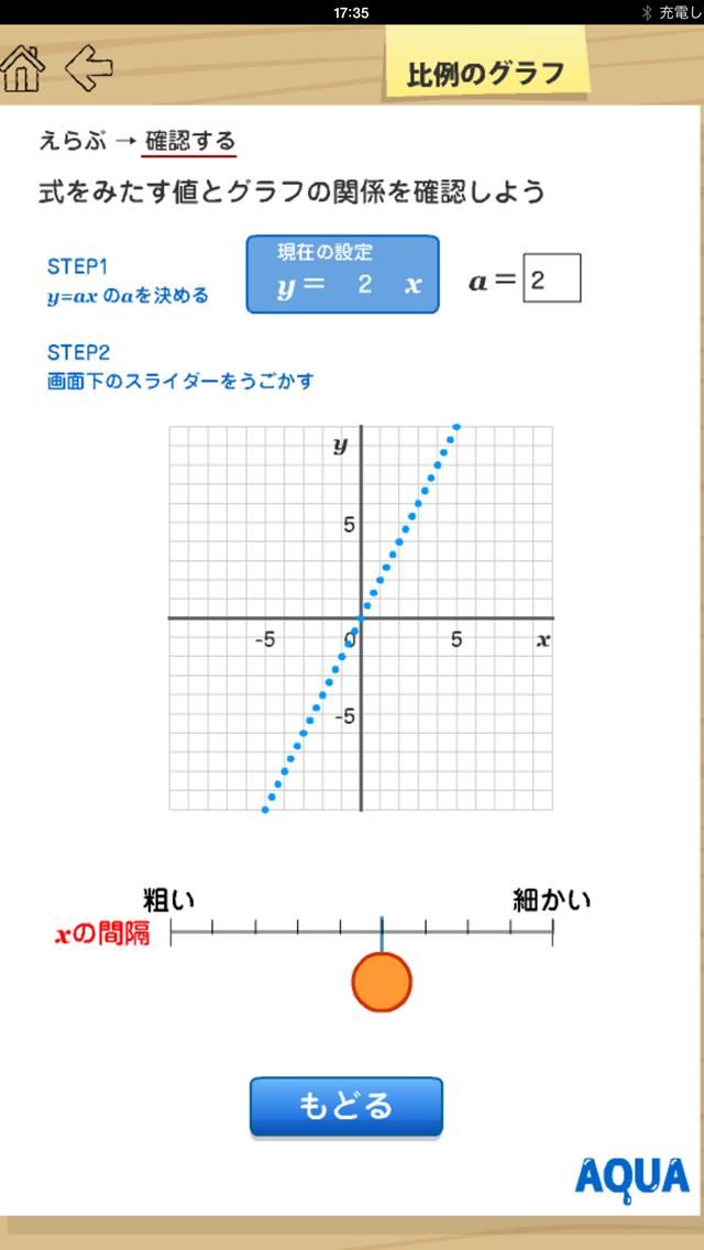 比例のグラフ さわってうごく数学「AQUAアクア」のおすすめ画像2